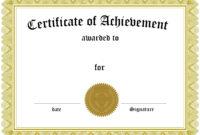 001 Template Ideas Free Blank Certificate Wonderful within Blank Award Certificate Templates Word