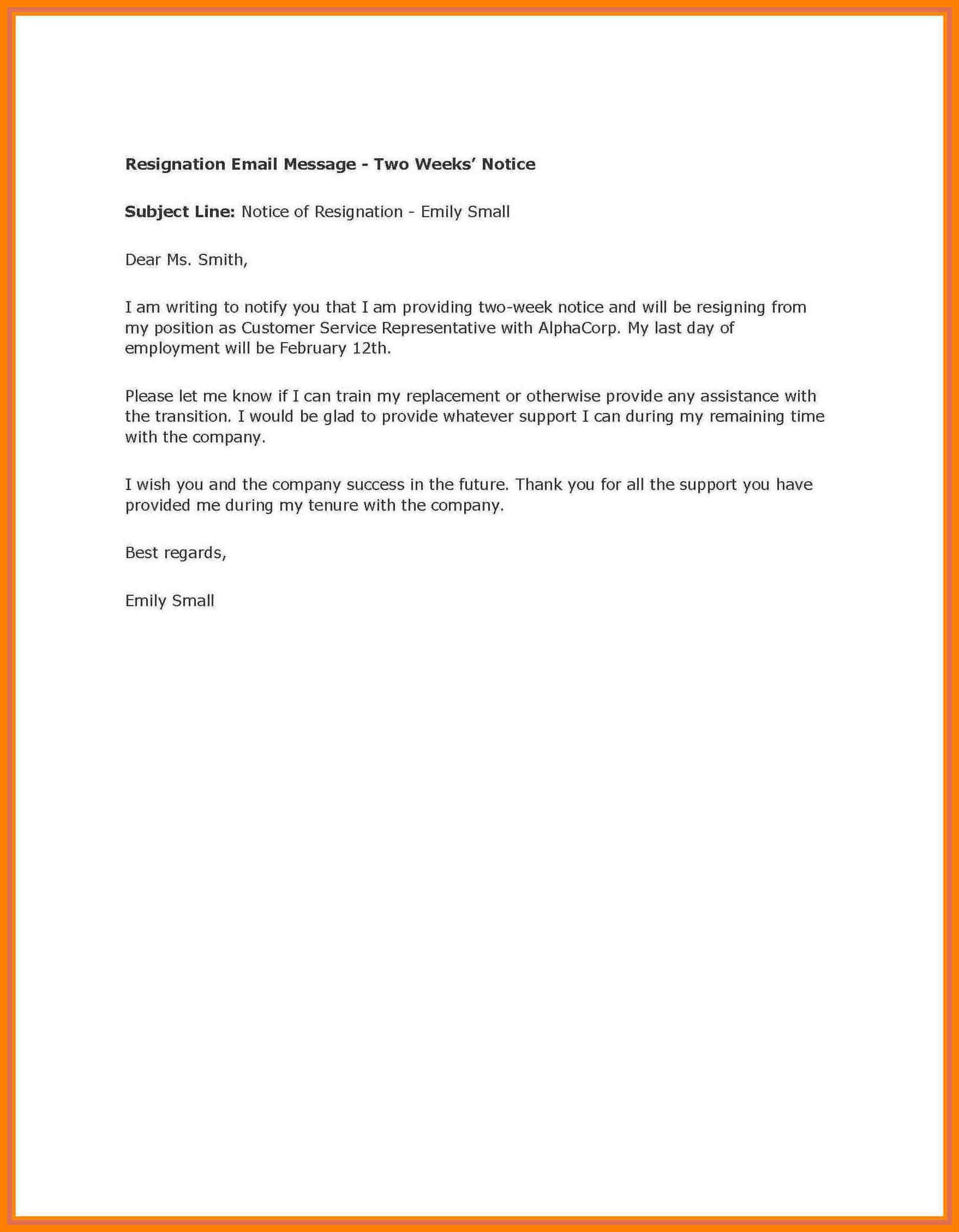 002 Week Notice Template Word Ideas Two Weeks Letter Example Regarding Two Week Notice Template Word