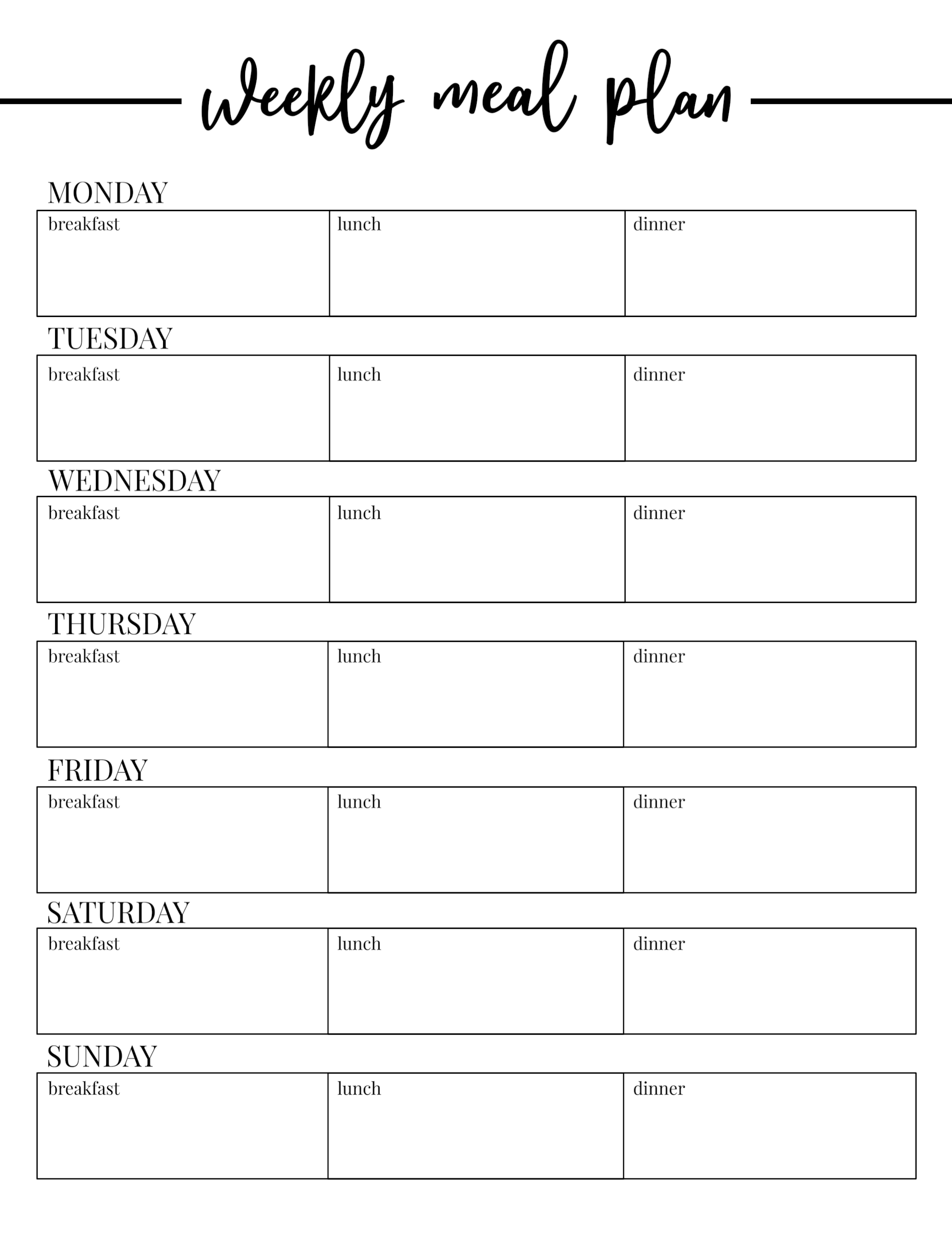 003 Daily Meal Plan Template Weekly Phenomenal Ideas Eating Throughout Menu Planning Template Word
