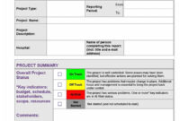 004 Status Report Template Ideas Impressive Weekly Format with regard to Project Implementation Report Template