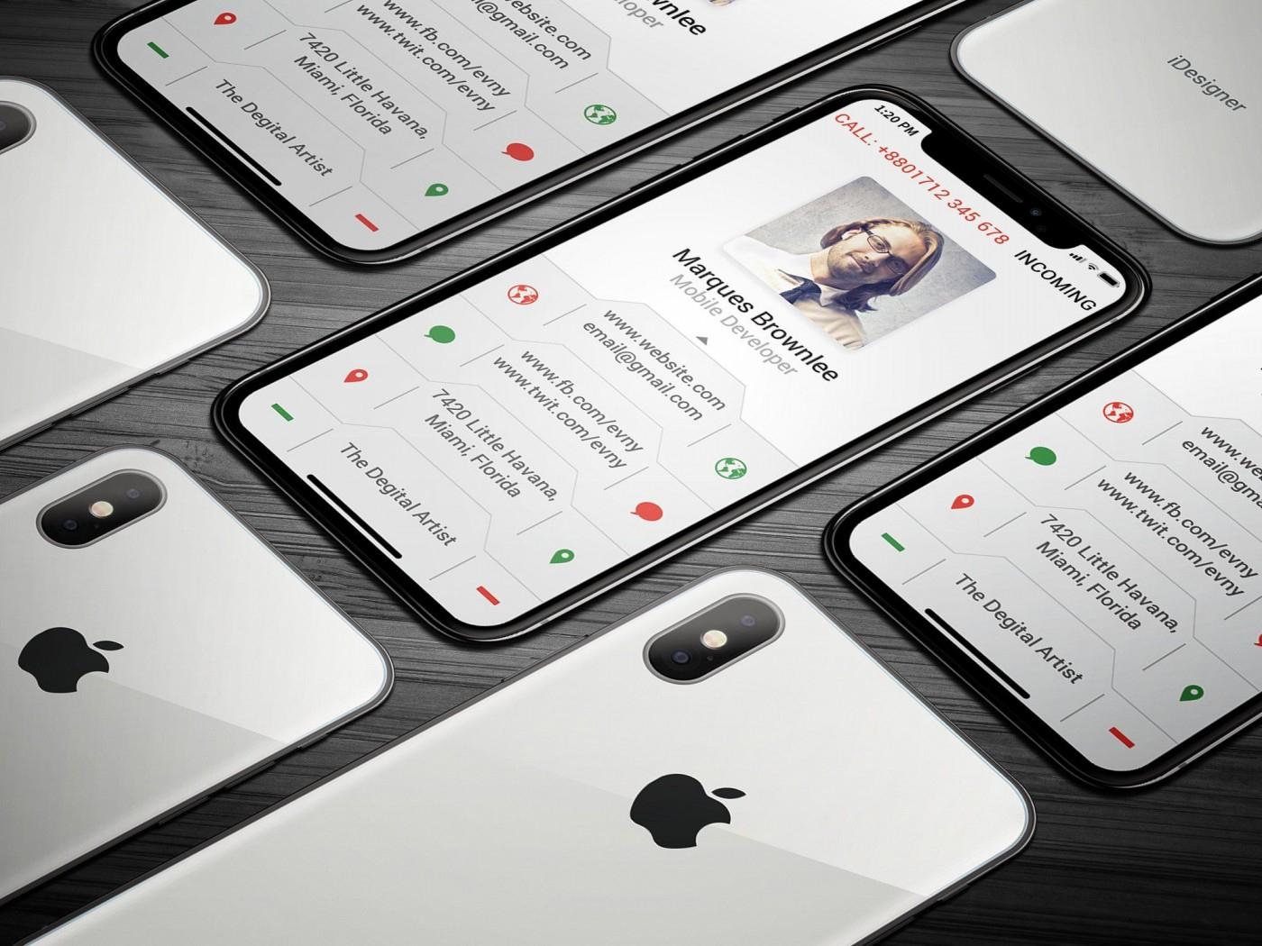 006 Iphone Business Card Template Unusual Ideas Psd Free In Iphone Business Card Template