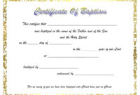 009 Certificate Of Baptism Template Unique Ideas Word intended for Roman Catholic Baptism Certificate Template