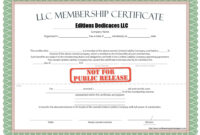 010 Llc Membership Certificate Template Best Solutions For intended for New Member Certificate Template
