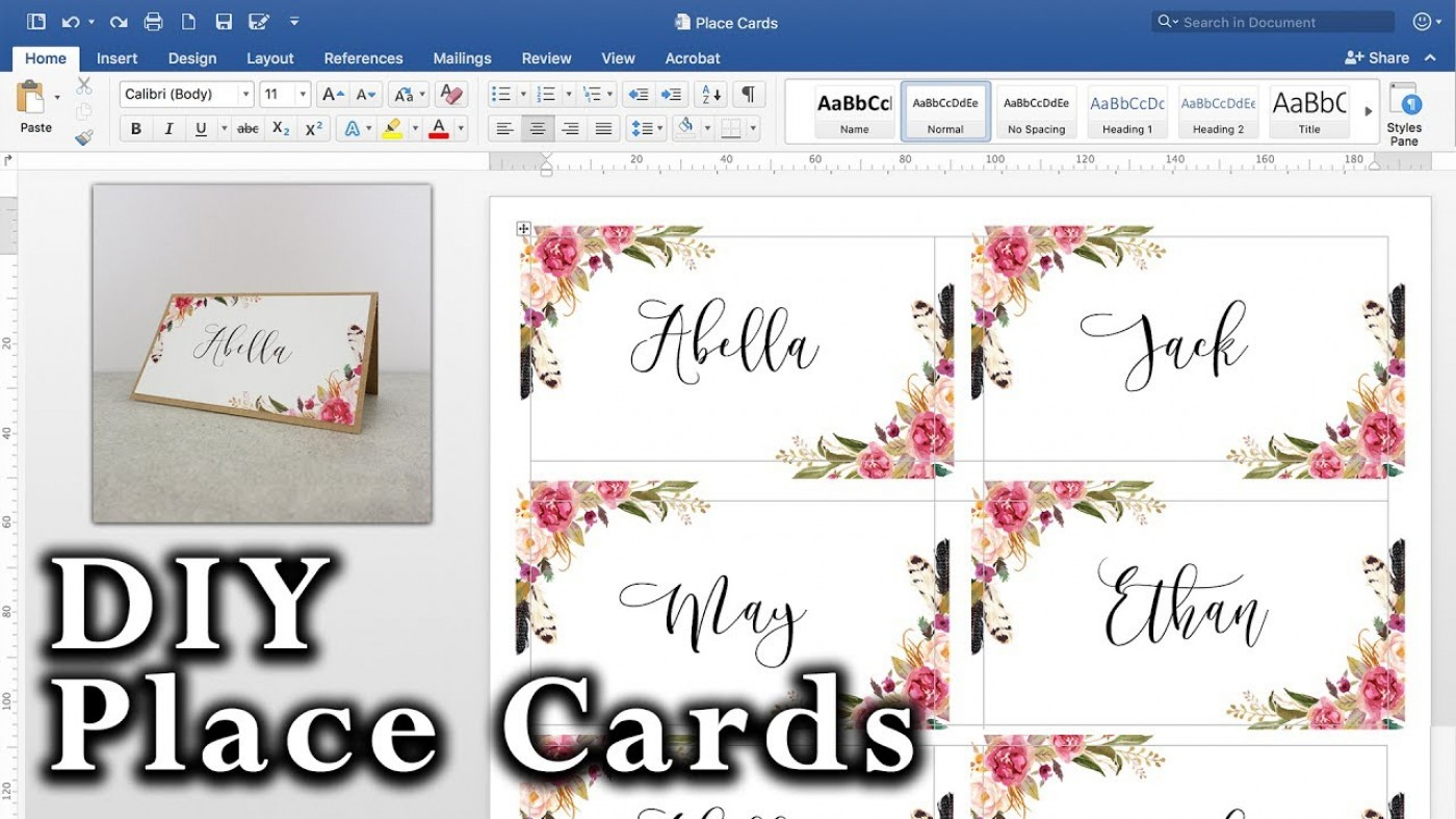 012 Template Ideas Place Card Templates Excellent Word Name Pertaining To Ms Word Place Card Template