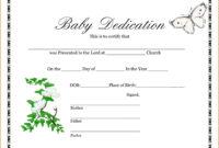 014 Template Ideas Baby Dedication Wonderful Certificate throughout Baby Dedication Certificate Template