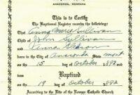 015 Certificate Of Baptism Template Ideas Roman Catholic pertaining to Roman Catholic Baptism Certificate Template