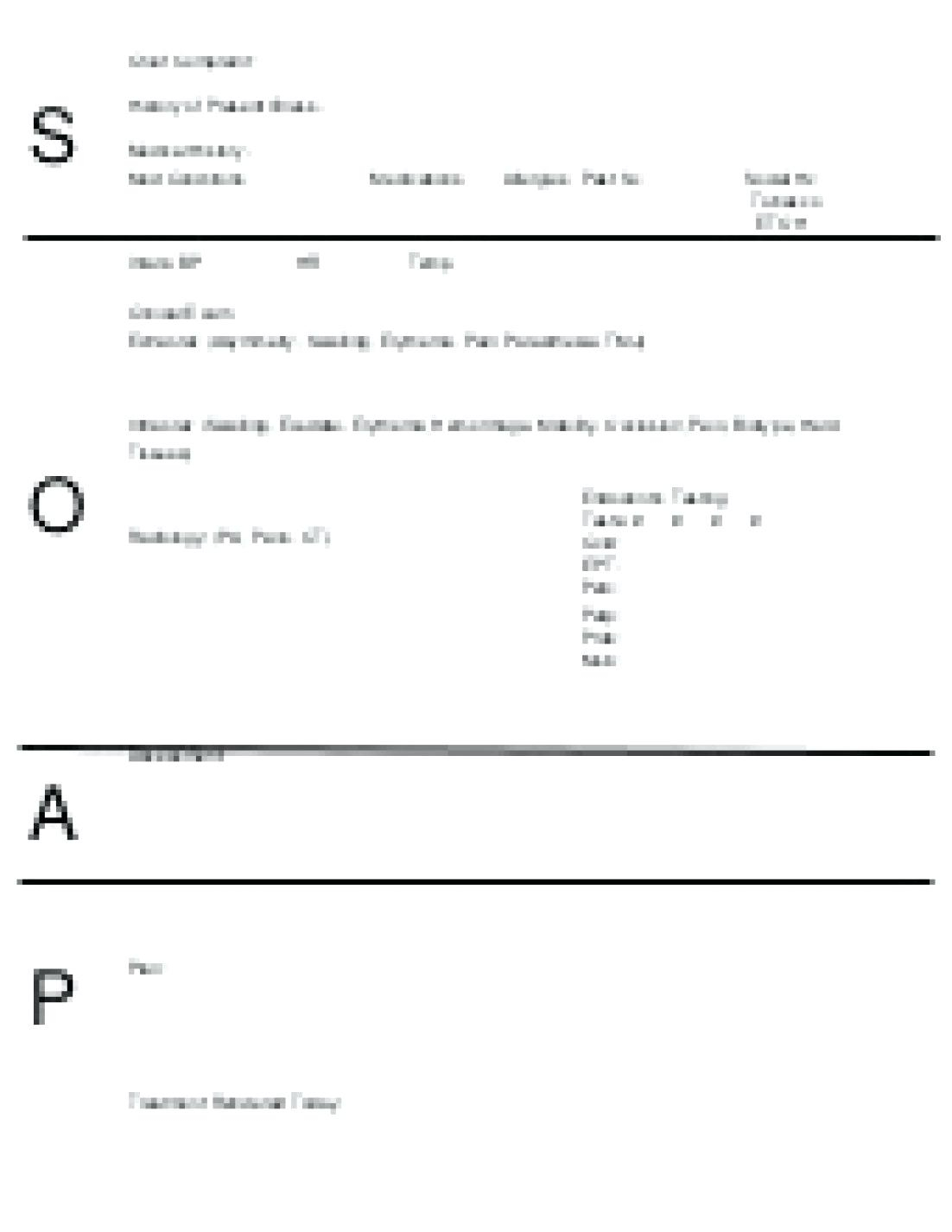 018 Blank Soap Note Template Perfect Ems Format Staggering Regarding Soap Note Template Word
