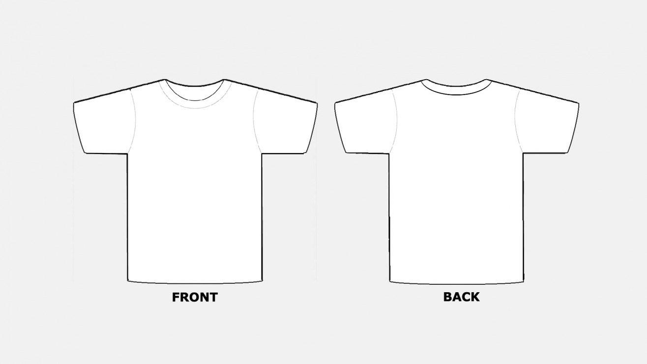 018 Blank Tshirt Template Pdf T Shirt Templates Free In Regarding Blank Tshirt Template Pdf