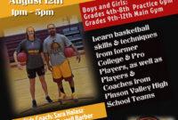 024 Template Ideas Basketball Camp Beautiful Flyer Youth inside Basketball Camp Brochure Template