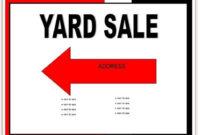 025 Garage Sale Flyer Template Free Impressive Ideas in Yard Sale Flyer Template Word