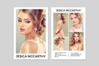 031 Model Comp Card Template Outstanding Ideas Male Download in Download Comp Card Template