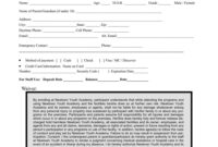 031 Template Ideas Sports Camp Registration Form Unique throughout Camp Registration Form Template Word