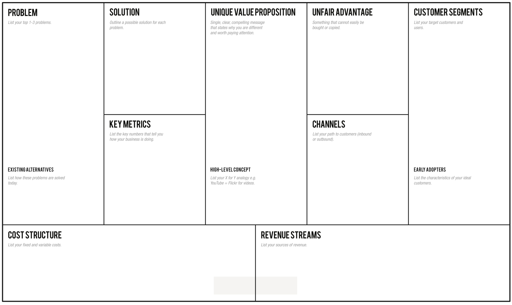 1 Page Business Plan | Leanstack Throughout Lean Canvas Word Template