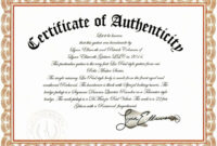 10 Authenticity Certificate Templates | Proposal Sample pertaining to Photography Certificate Of Authenticity Template