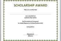 10+ Scholarship Award Certificate Examples – Pdf, Psd, Ai Pertaining To Scholarship Certificate Template