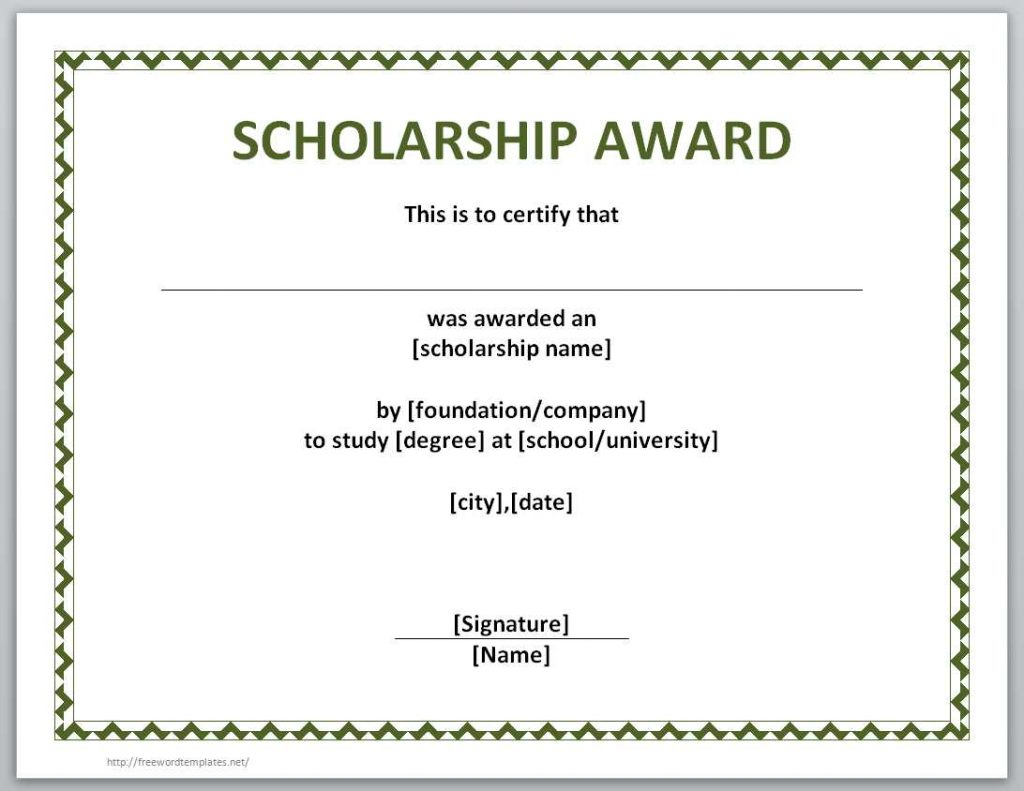 10+ Scholarship Award Certificate Examples - Pdf, Psd, Ai Pertaining To Scholarship Certificate Template