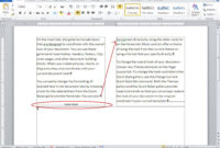 10 Tips For Working With Word Columns – Techrepublic with 3 Column Word Template