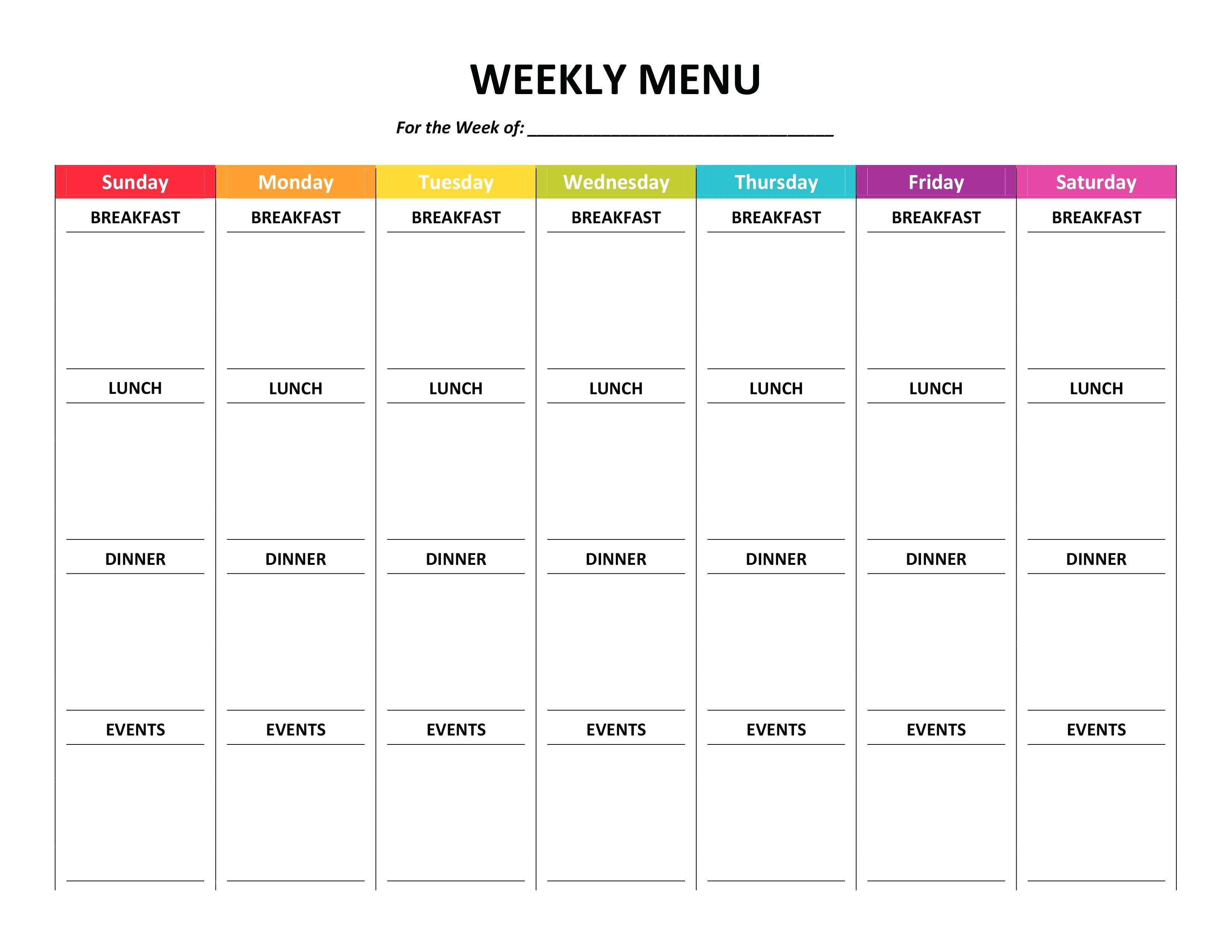 10 Weekly Meal Planner Template Word | Resume Samples Pertaining To Meal Plan Template Word