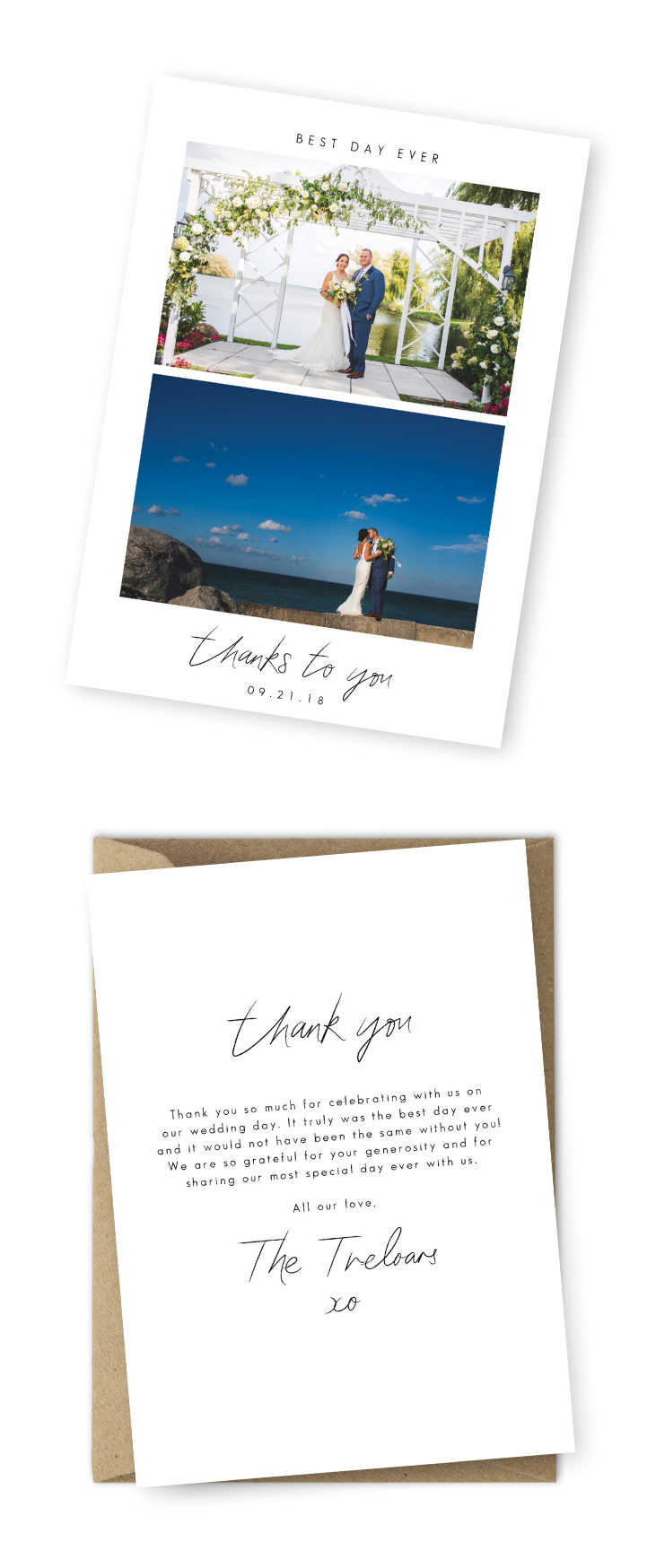 10 Wording Examples For Your Wedding Thank You Cards Regarding Template For Wedding Thank You Cards