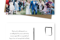10 Wording Examples For Your Wedding Thank You Cards with Template For Wedding Thank You Cards