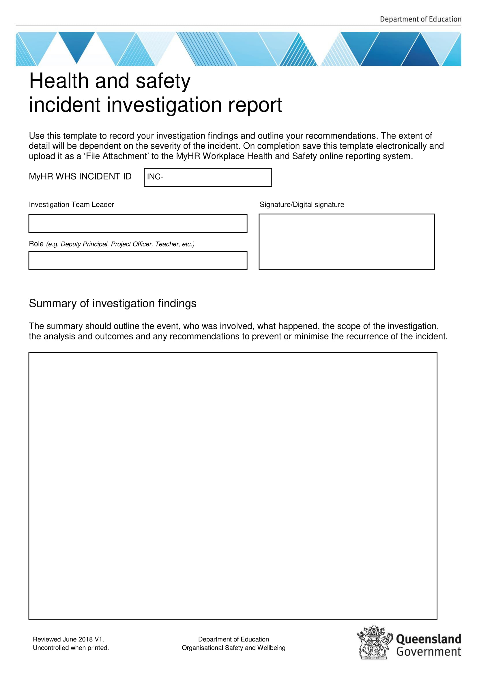 10+ Workplace Investigation Report Examples – Pdf   Examples Regarding Workplace Investigation Report Template