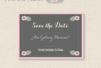 11 Free Save The Date Templates with Save The Date Templates Word