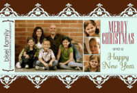 11 Free Templates For Christmas Photo Cards with Free Photoshop Christmas Card Templates For Photographers