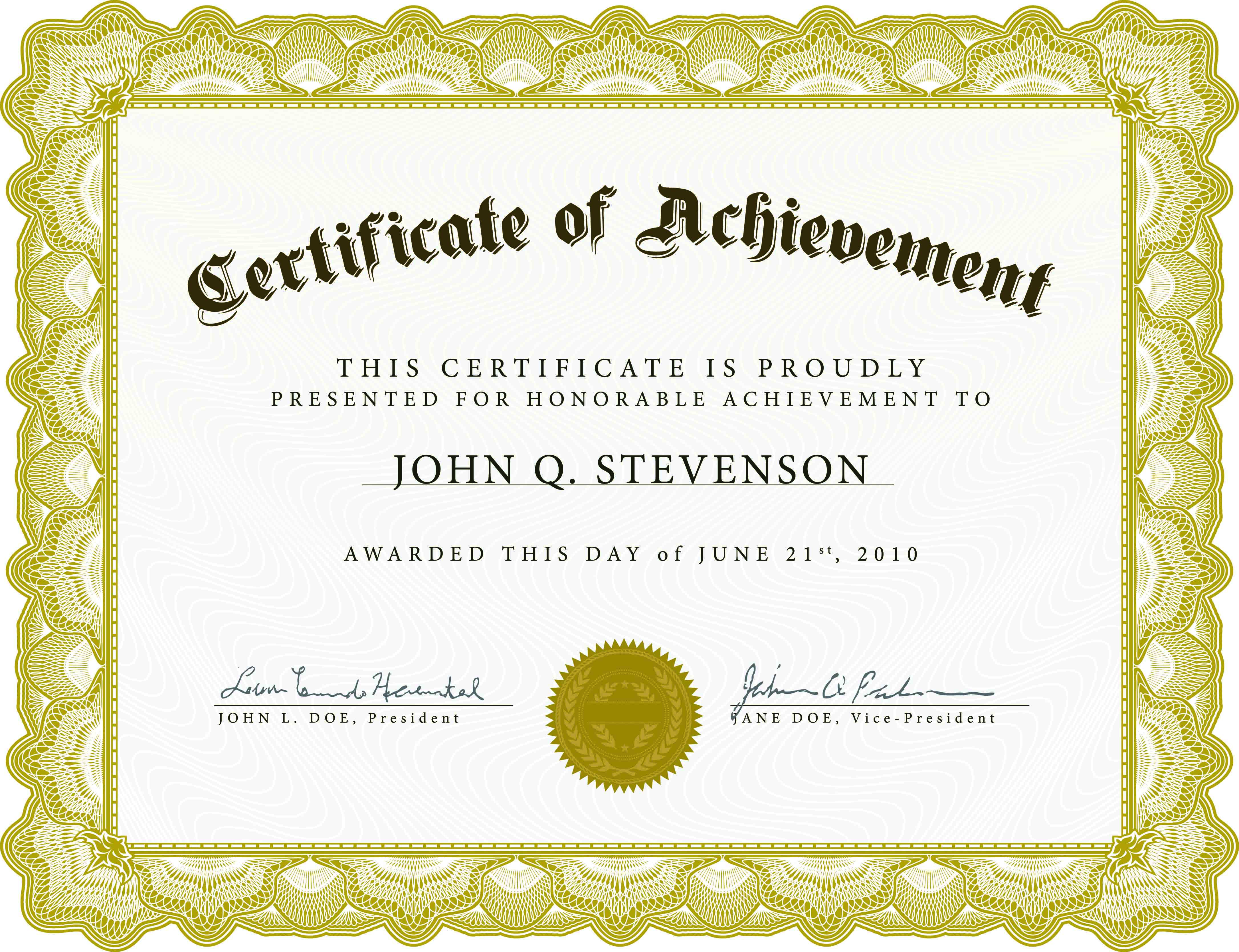 12 Certificate Templates Free Downloads Images - Completion With Regard To Certificate Templates For Word Free Downloads