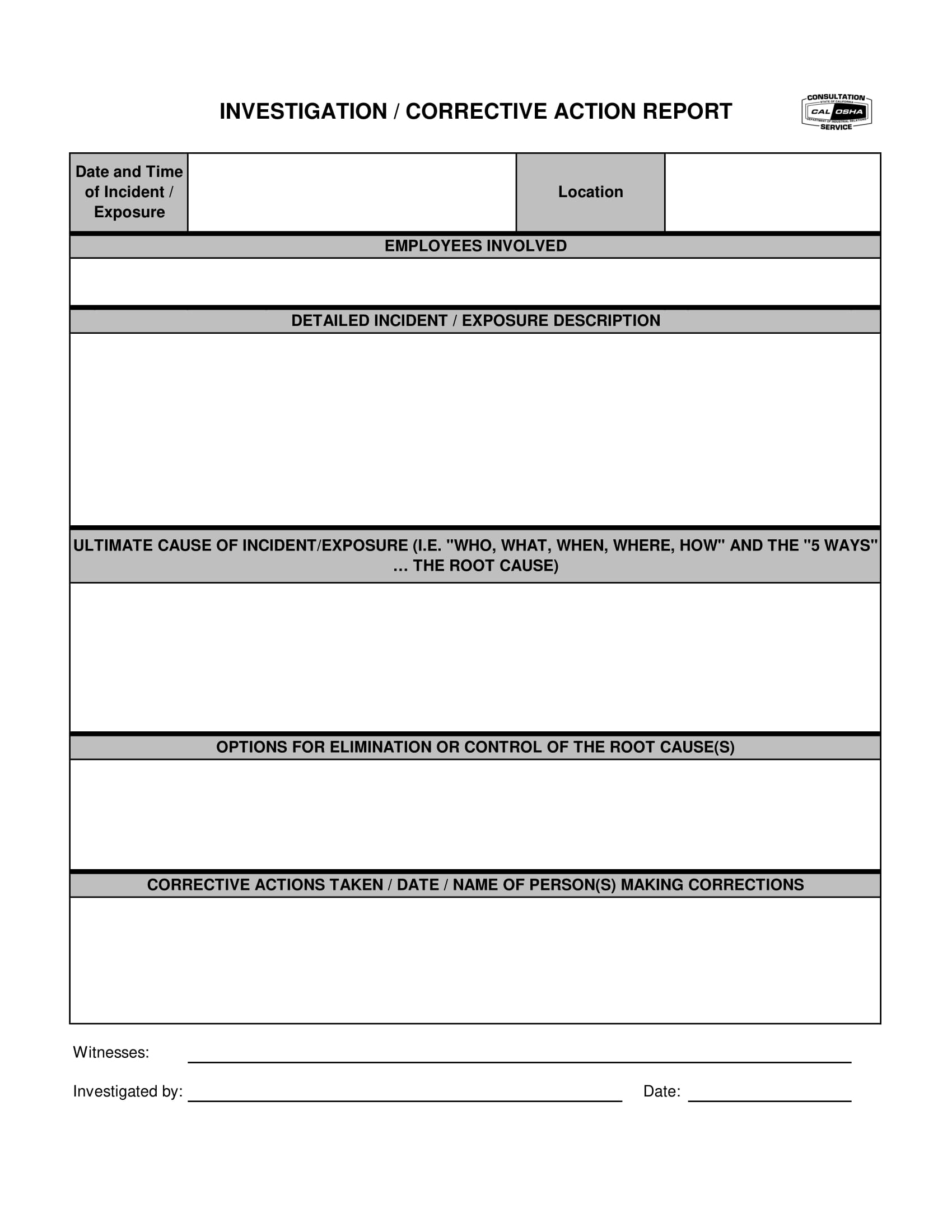 12+ Corrective Action Report Examples - Pdf   Examples Throughout Corrective Action Report Template