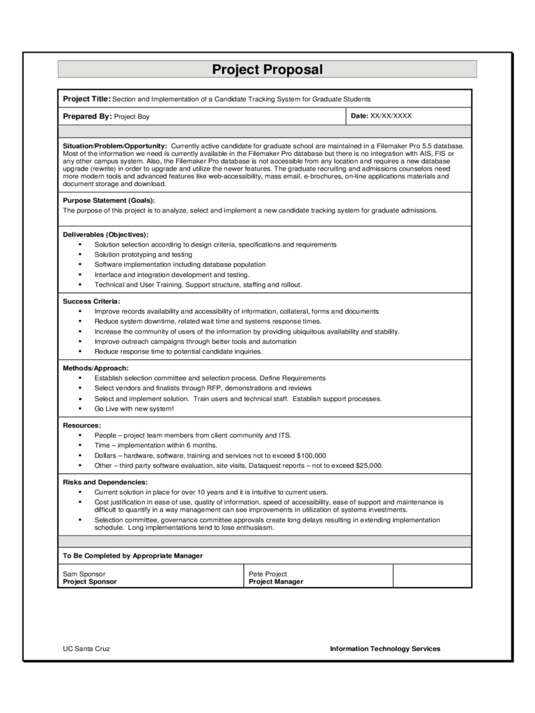 12+ Software Project Proposal Examples - Pdf, Word   Examples With Regard To Software Project Proposal Template Word