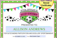 13+ Soccer Award Certificate Examples – Pdf, Psd, Ai within Soccer Award Certificate Template