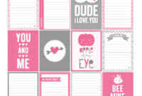 14 Days Of Free Valentine's Printables Day 6   Misstiina with regard to 52 Reasons Why I Love You Cards Templates Free