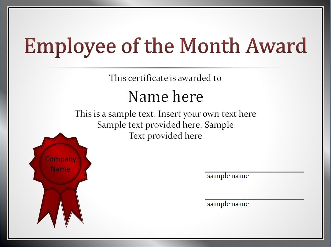 14+ Employee Of The Month Certificate Template   This Is Within Employee Of The Month Certificate Template With Picture