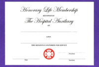 14+ Honorary Life Certificate Templates – Pdf, Docx | Free regarding New Member Certificate Template