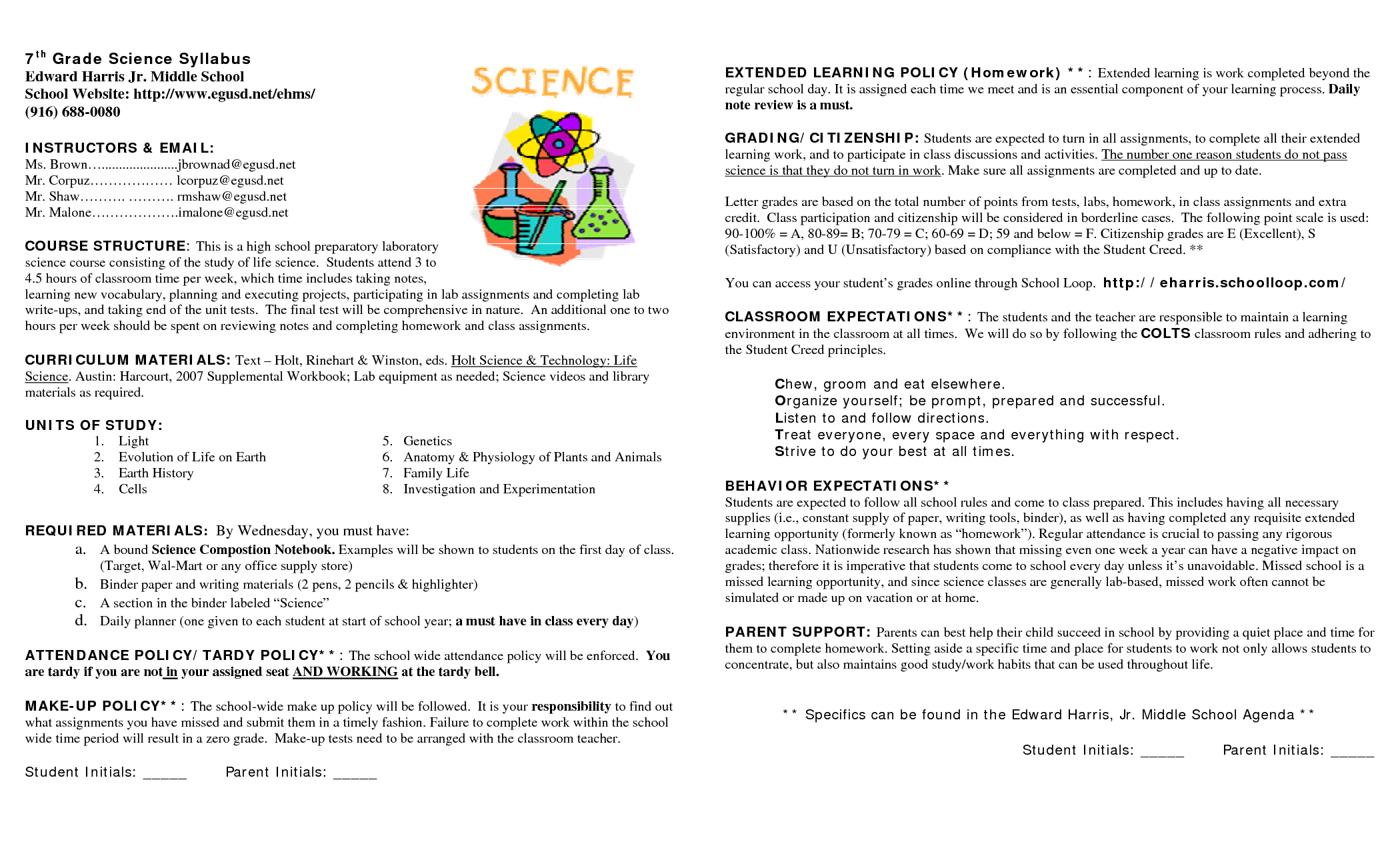 15 Awesome Syllabus Template For Middle School Images Throughout Blank Syllabus Template
