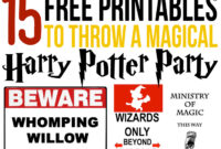 15 Free Harry Potter Party Printables – Part 2 – Lovely Planner with Get Out Of Jail Free Card Template