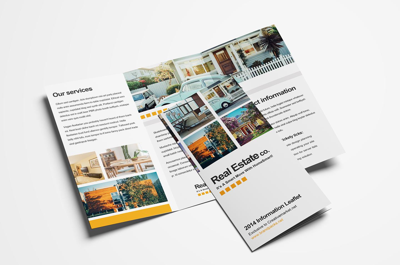 15 Free Tri Fold Brochure Templates In Psd & Vector – Brandpacks For Adobe Illustrator Tri Fold Brochure Template