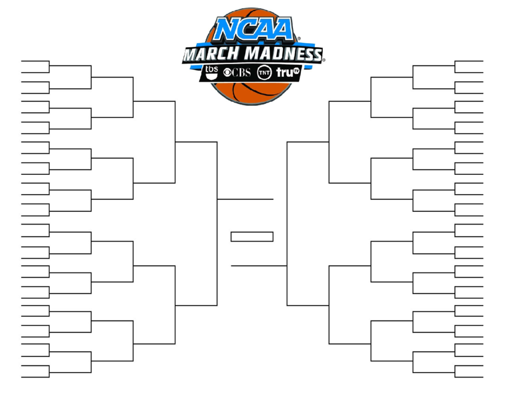 15 March Madness Brackets Designs To Print For Ncaa Regarding Blank March Madness Bracket Template