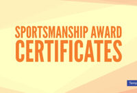 15+ Sportsmanship Award Certificate Designs & Templates with regard to Rugby League Certificate Templates
