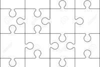 16 Jigsaw Puzzle Blank Template Or Cutting Guidelines intended for Blank Jigsaw Piece Template