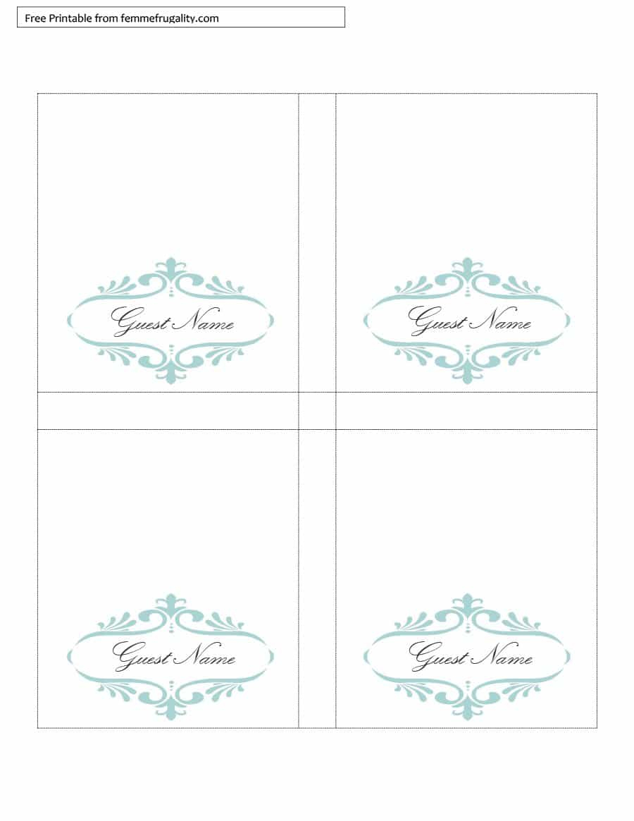 16 Printable Table Tent Templates And Cards ᐅ Template Lab For Free Printable Tent Card Template
