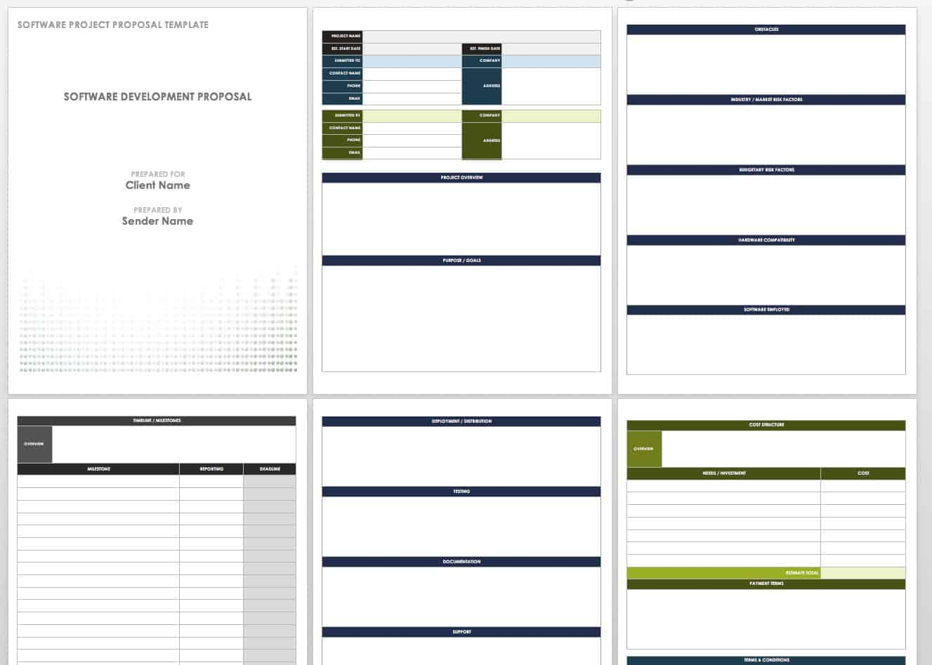 17 Free Project Proposal Templates + Tips   Smartsheet In Software Project Proposal Template Word