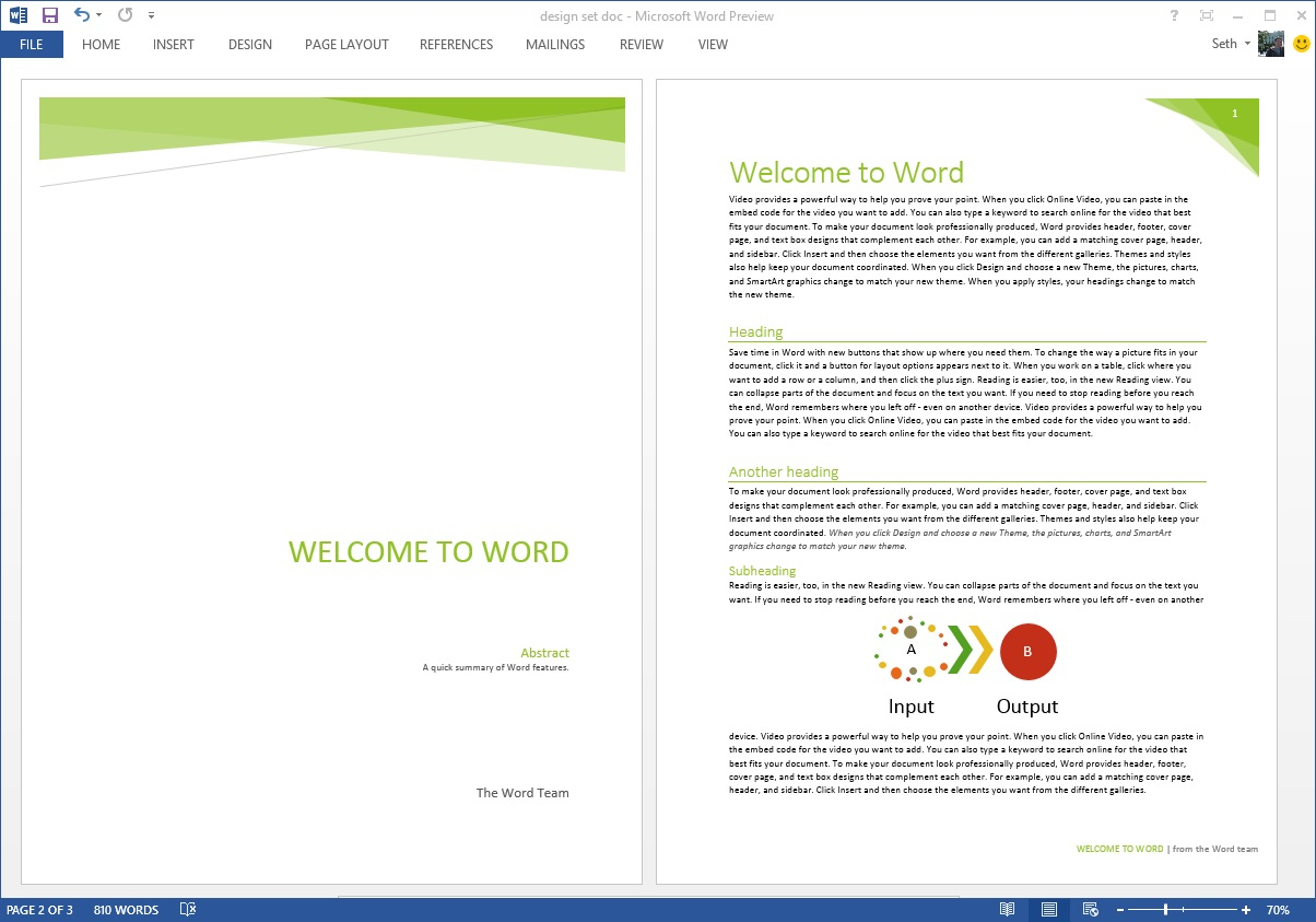 18 Word Header Designs Images - Word Document Header Designs Pertaining To Header Templates For Word