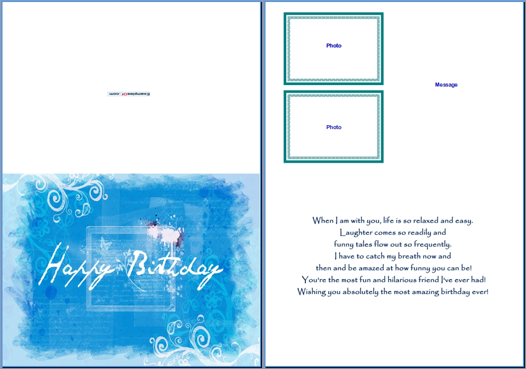 19 Birthday Card Templates For Word Images - Free Birthday Throughout Microsoft Word Birthday Card Template