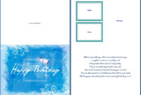 19 Birthday Card Templates For Word Images – Free Birthday with Birthday Card Template Microsoft Word