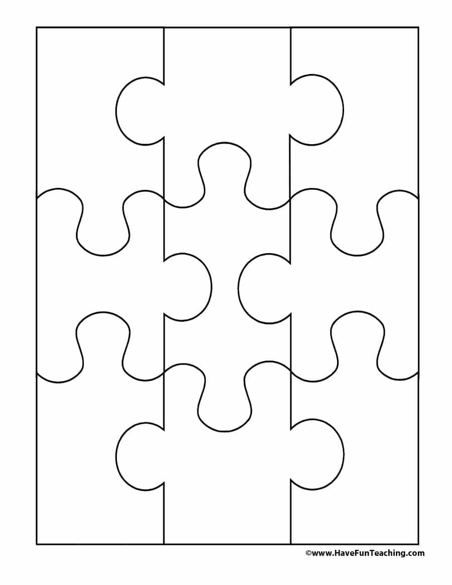 19 Printable Puzzle Piece Templates ᐅ Template Lab Throughout Blank Jigsaw Piece Template