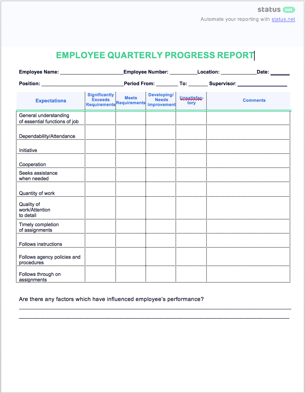 2 Easy Quarterly Progress Report Templates | Free Download Inside Business Quarterly Report Template
