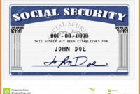 20+ Blank Social Security Card Template pertaining to Blank Social Security Card Template Download