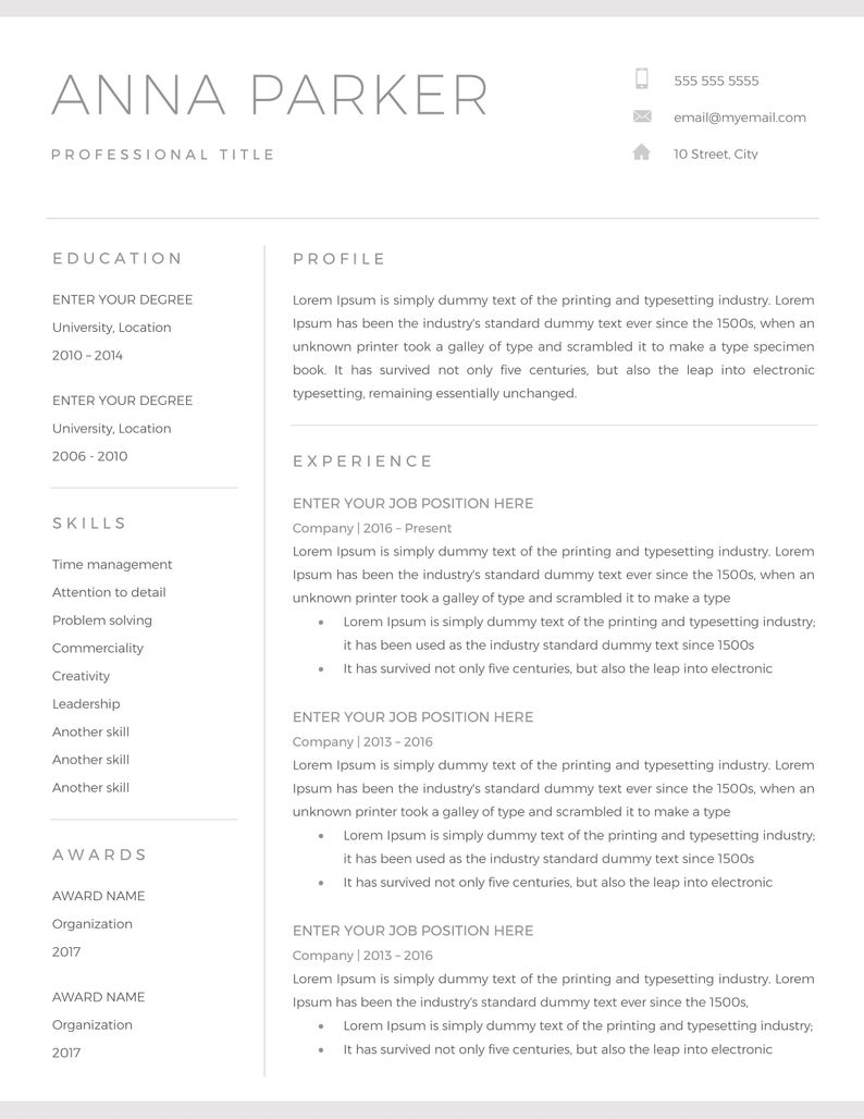20+ Free And Premium Word Resume Templates [Download] Intended For Another Word For Template