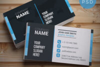 20+ Free Business Card Templates Psd – Download Psd regarding Calling Card Template Psd